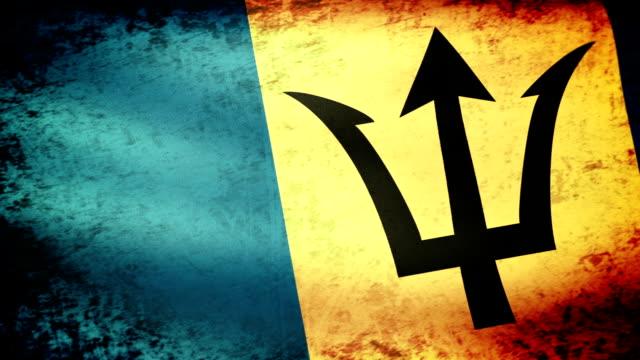 Barbados Flag Waving, grunge look video