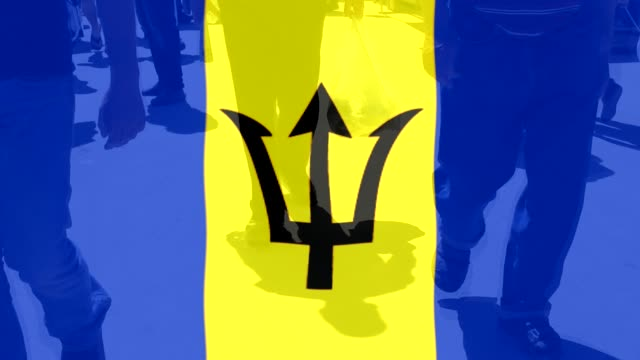 Barbados NAtional flag and People video