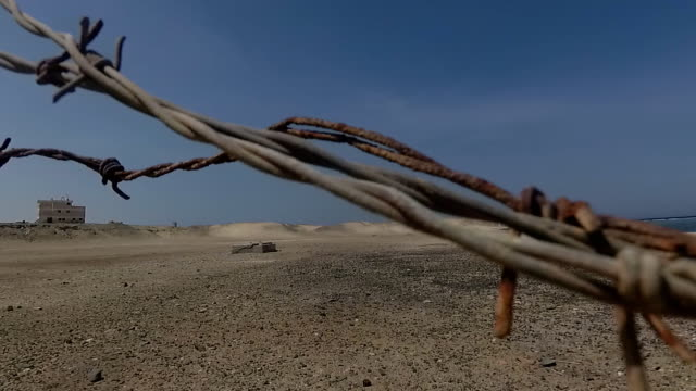 Barbed wire. Fencing video