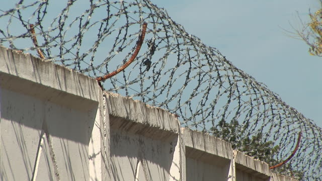barbed wire in a protected area video