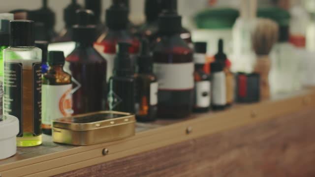 Barberos cuidado de los productos cosméticos - vídeo