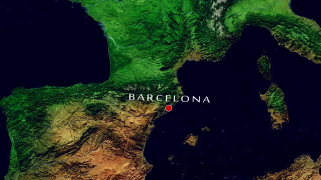 Zoom avant Barcelone 4K - Vidéo