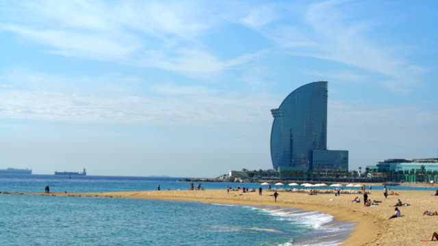 Barcelona beach video