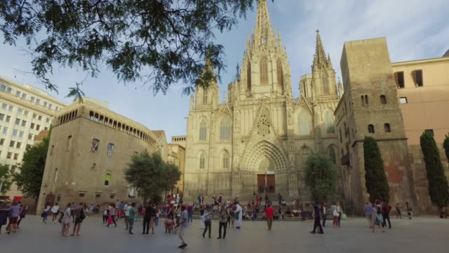 Barcelona Cathedral in barrio gotico video