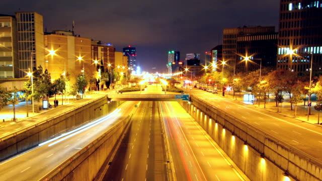 Barcelona Gran via time lapse video