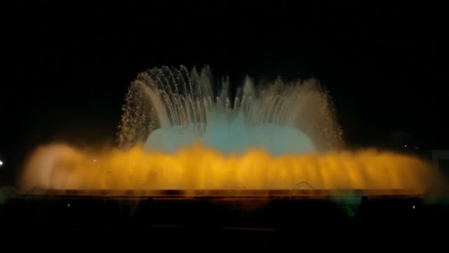 Barcelona Magic Fountain at Night (HD) video