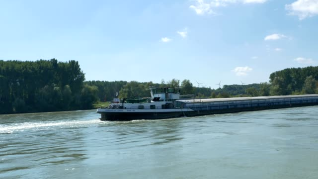 A Barge on the Danube video