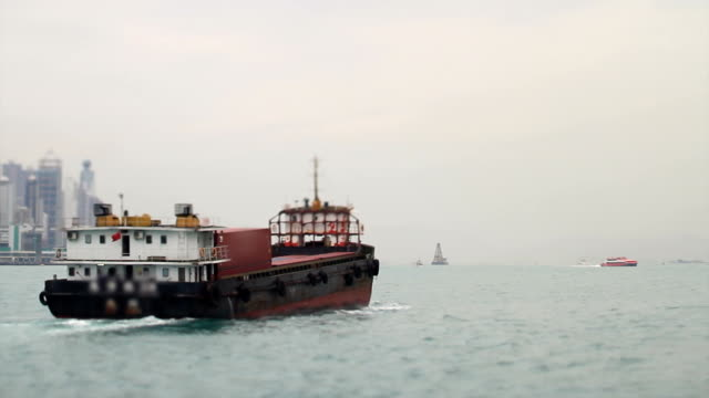 Barge on Water (Sea) video
