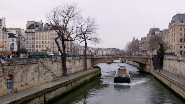 Barges Along the Seine