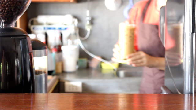 Barista Serving Fresh Brew Iced Coffee video