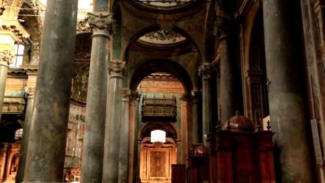 barokowy kościół san giuseppe dei teatini - kultura włoska filmów i materiałów b-roll
