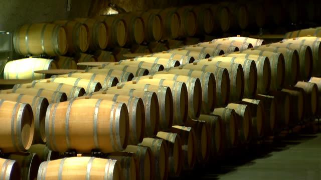 Barrels for wine video