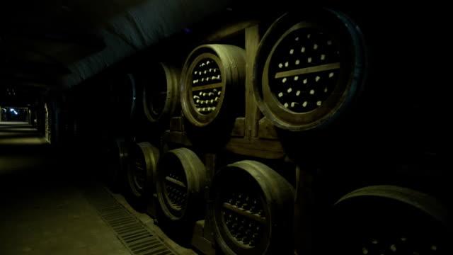 Barrels in the Wine Cellar video