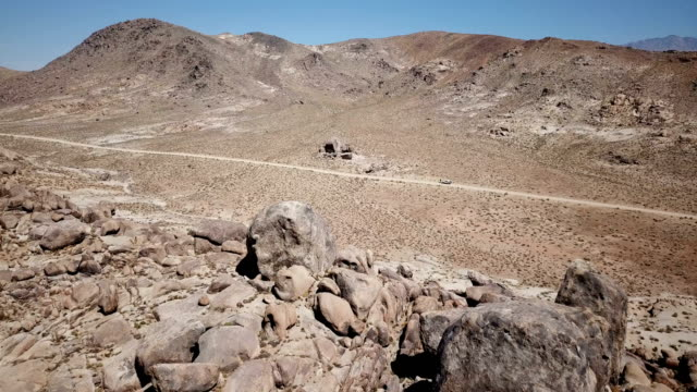 Barren Desert and Rock Formations video