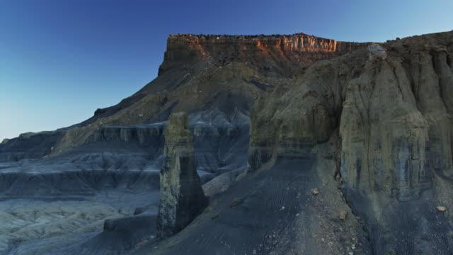 Barren Rock Formations in Miller Canyon, Utah - Drone Shot video