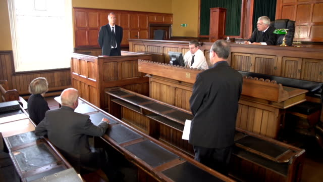 Barrister Questioning Witness in Court case with Judge video