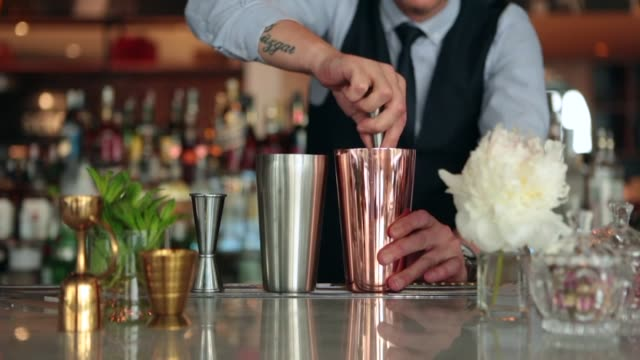 bartender making cocktail bartender making cocktail margarita stock videos & royalty-free footage