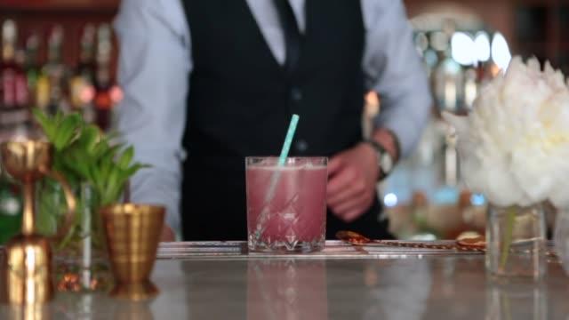 Bartender Making Cocktails Bartender Making Cocktails margarita stock videos & royalty-free footage