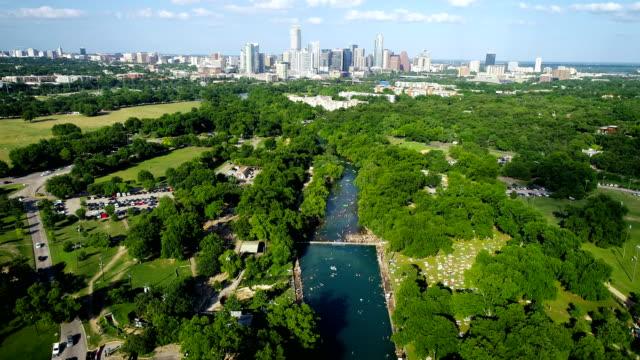 Barton Springs Pool Summertime in Austin Texas 2019