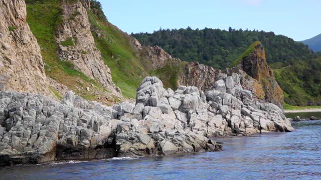 Basalts rock on Kunashir island video