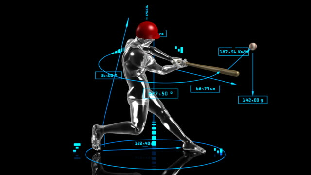 3D baseball batter video