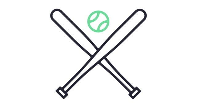 Animación del icono de béisbol - vídeo