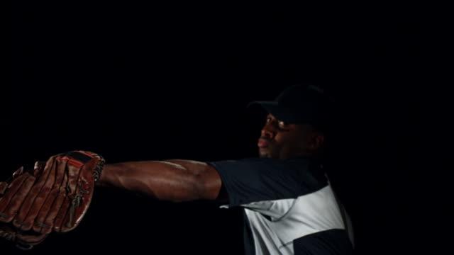 野球ピッチャー)、slow motion (スローモーション) - 野球点の映像素材/bロール
