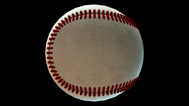 Baseball rotating loop isolated with luma matte video