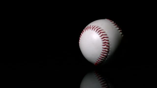 野球スピニングにブラックの面 ビデオ