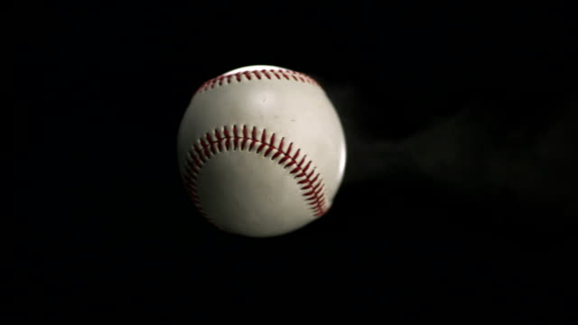 baseball thrown, slow motion - baseball stock videos and b-roll footage