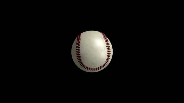 Totating béisbol en pantalla negra - vídeo