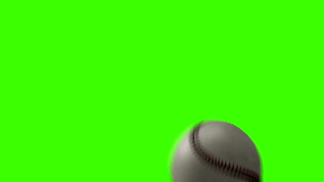 Baseball Video Transition for a TV show on a Green Screen Background video