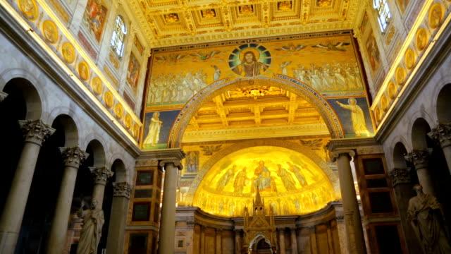 duvarların dışında aziz paul bazilikası - vatikan şehir devleti stok videoları ve detay görüntü çekimi