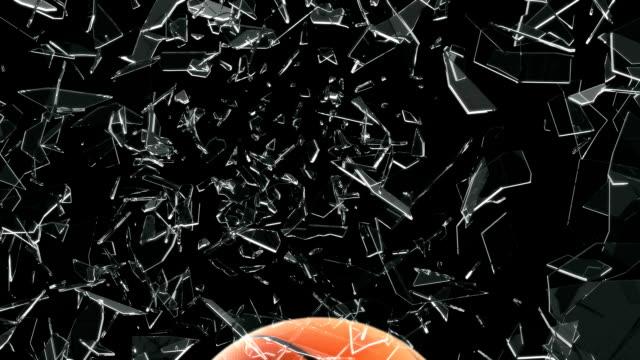 Basket ball breaking window video