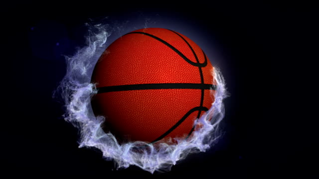 Basket Ball in Particles Ring video