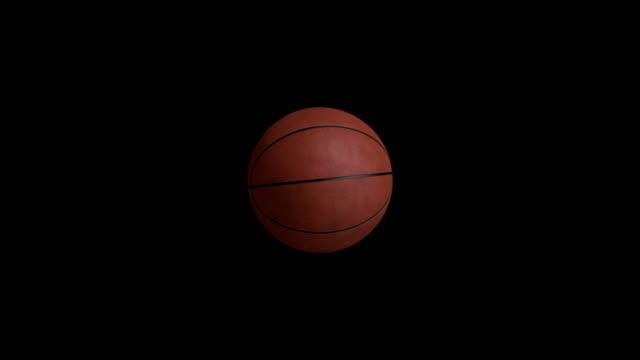 basket animation med svart skärm - basketboll boll bildbanksvideor och videomaterial från bakom kulisserna