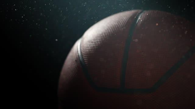 Basketball ball dark background