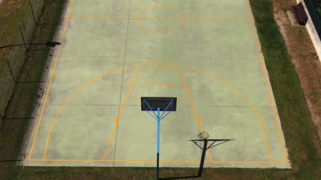 basketball court as seen from above - space video stock e b–roll