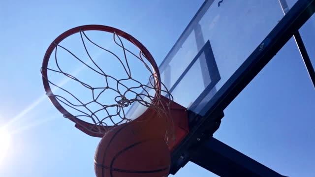 Basketball going through the basket video