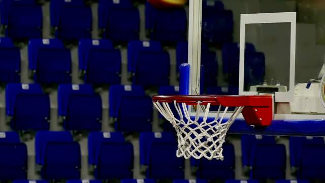 Basketball Going Through The Net video