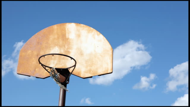 HD Basketball Hoop Clouds Time Lapse  basketball hoop stock videos & royalty-free footage