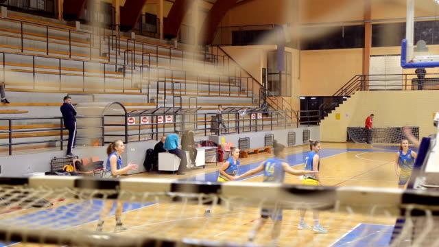 Basketball match video