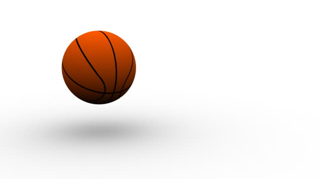 Basketball on white - HD video
