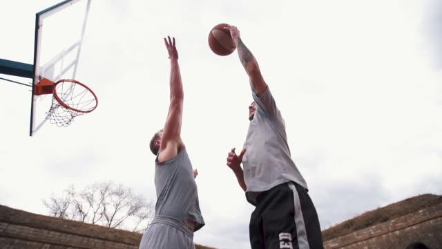 basketball player blocking the shot - taking a shot sport stock videos & royalty-free footage