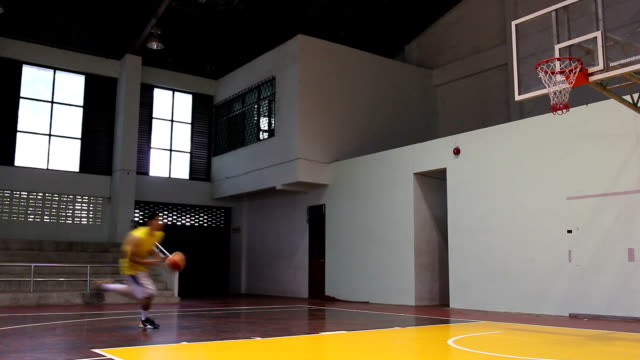 basketball player lay up video