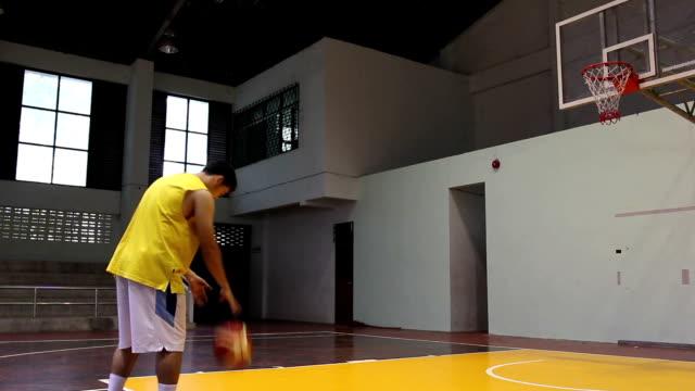 Basketball player shooting video