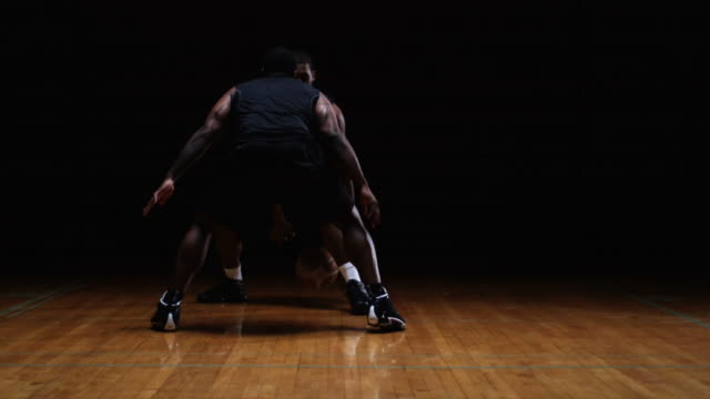Basketball Players Face Off video