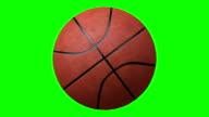 istock Basketball rotating over a chroma key background 621431204