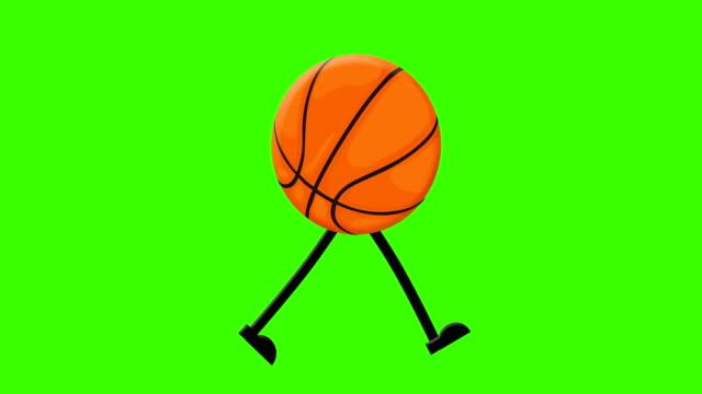 basket promenad cykel på en mock-up grön skärm bakgrund - basketboll boll bildbanksvideor och videomaterial från bakom kulisserna