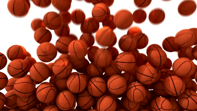 Basketballs fill screen transition composite overlay video